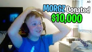 I Donated $10,000 to a 9 Year Old Kid Streaming Fortnite...