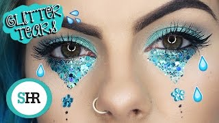 How To: GLITTER TEARS FESTIVAL MAKEUP!