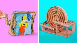 2 Funny Crafts from Cardboard for Kids