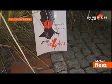 Flesz Gliwice / Protesty w Gliwicach w związku z wyrokiem TK