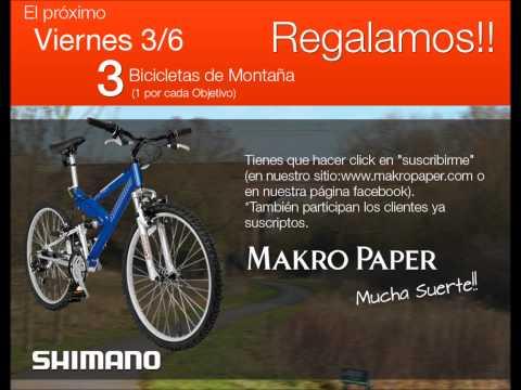 MakroPaper | Viernes 3 de Junio Regalamos 3 Bicicletas!