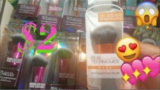 $2 TREMENDOUS CLEARANCE BEAUTY ALERT!!!! *NEW* REAL TECHNIQUES MAKEUP BRUSHES HAUL!!!