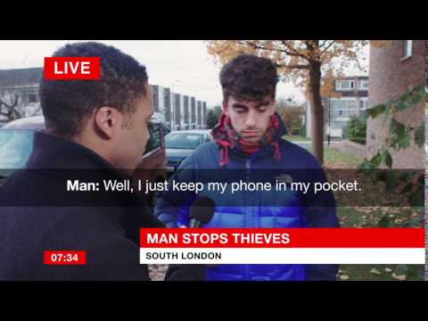 Man single handedly stops mobile phone thief