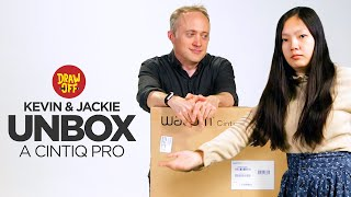 Kevin & Jackie Unbox A Fancy Drawing Monitor • Draw Off