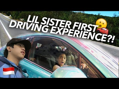 LIL SISTER FIRST TIME DRIVING?!   Ranz and Niana