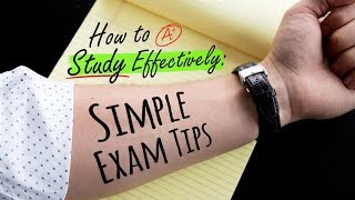 HOW TO STUDY EFFECTIVELY: SIMPLE EXAM TIPS | Doctor Mike