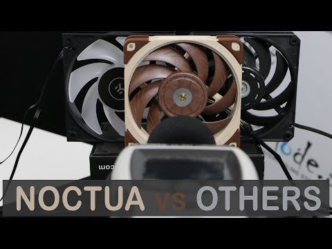 Noctua A12x25  Noise Profile vs  SanAce, Vardar and Gentle Typhoon Fans