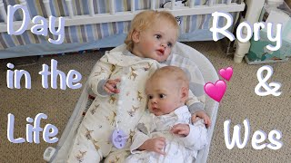 Day in the Life of Reborn Rory and Wesley | Kelli Maple