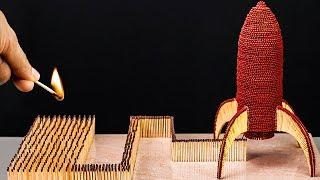 Amazing Matchstick Rocket Ship