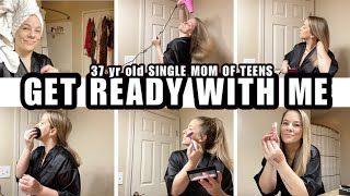 GET READY WITH ME|37yr old SINGLE MOM OF 3 TEENS| START THE DAY WITH ME