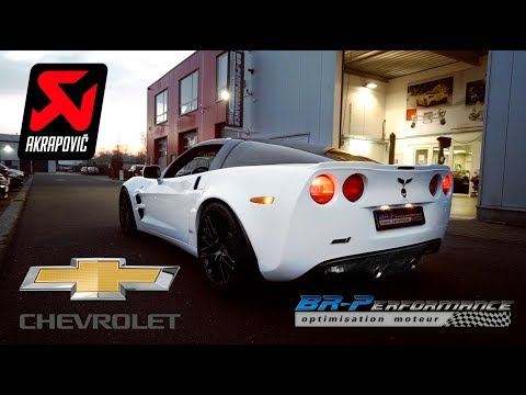 Chevrolet Corvette ZR1 6.2 V8 Compressor Exhaust Akrapovic By BR-Performance