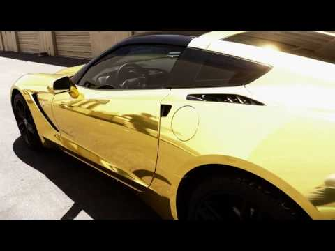 The Golden Stingray Corvette