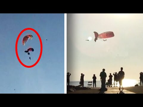 Viral video: Mid-air collision of paragliders in Turkey