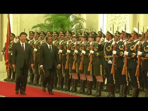 Accueil solennel de S.E. Paul BIYA au Grand Palais du Peuple (Chine)