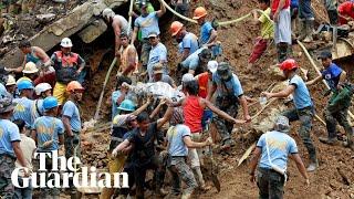 Almost 100 people feared dead after Typhoon Mangkhut landslide