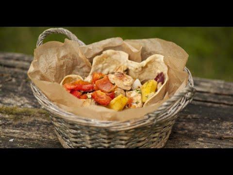 Гриль-салат с лепёшкой | Лазерсон. Гриль
