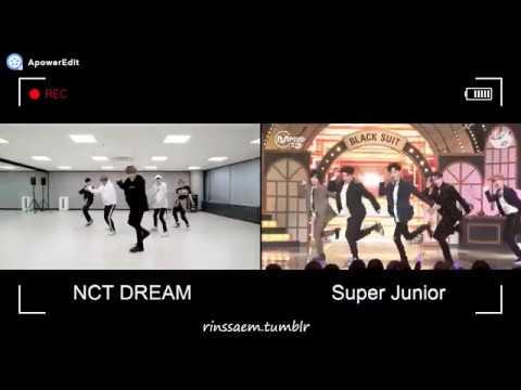 Super Junior | NCT DREAM Black Suit Side by Side
