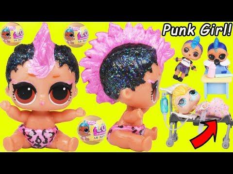 Lil Punk Girl Custom Sister as New Baby Boi at School + Pharaoh Babe Unicorn LOL Surprise Dolls