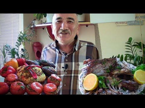 БАРАНИНА в духовке. Фаршированные помидоры, перец, цветная капуста photo