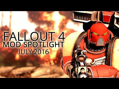 Fallout 4 Mod Spotlight - Space Marine Power Armor, Working Showers, HD Reworked & MORE [July 16]