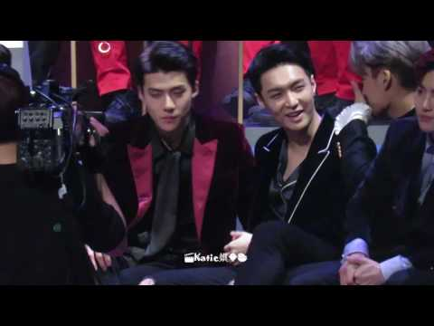 [Fancam] 161202 Exo reaction to Baekhyun Suzy Dream performance Sehun focus @2016 MAMA