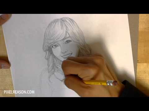 SNSD Girls' Generation - Jessica Drawing/Sketch (720p HD)