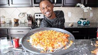 I Try Making CANDY CORN Pizza (Taste Test) | Alonzo Lerone