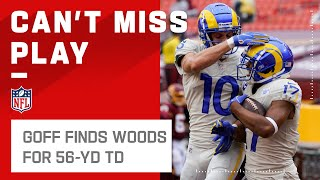 Jared Goff Goes DEEP to Wide-Open Robert Woods