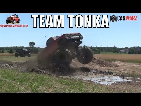 TEAM TONKA Mega Truck Mudding At Red Barn Customs 2018
