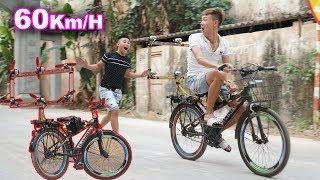 DT | Thử Chạy Xe Đạp Gắn Mô Tơ Đẩy 60KM/H ( Running a Bicycle Attaching Push Motor )