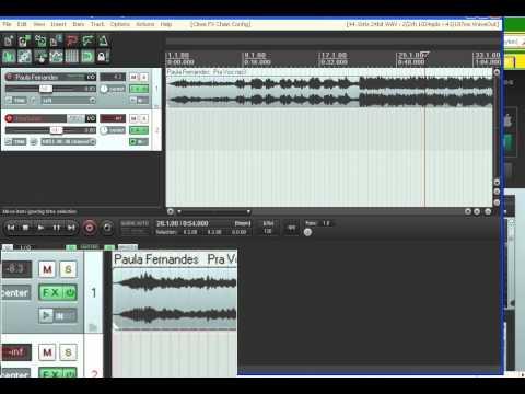Baixar REAPER - Mudando a Tonalidade do Playback  em áudio (Transposição).wmv