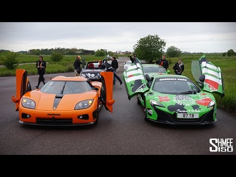 Gumball 3000 Drag Races at Koenigsegg – 918, 650S, AMG GTS