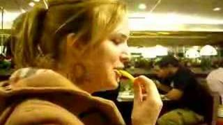 How to eat a foot long french fry