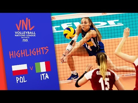 Poland vs. Italy - Game Highlights Women  Week 1   Volleyball Nations League 2019