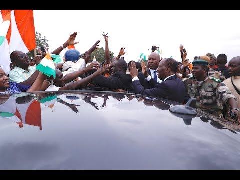 Arrivée de S.E.M. Alassane OUATTARA à Bamako pour l'investiture du Président IBK