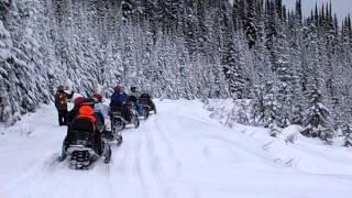 Relax durante una excursión en motos de nieve