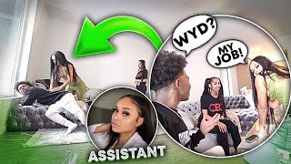 I HIRED A FINE ASSISTANT TO SEE HOW MY GF WOULD REACT!