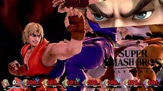 Super Smash Bros Ultimate 8 Player Final Smash Ken (Shippu Jinraikyaku)