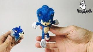 Making SONIC with Clay (Sonic the hedgehog movie) - Sculpey [ kiArt kia ]