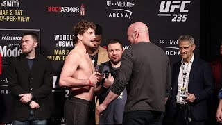UFC 234 Ceremonial Weigh-Ins: Ben Askren chats away to Dana White