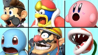 All Characters Reacting to a Final Smash in Super Smash Bros Ultimate (+ Piranha Plant)