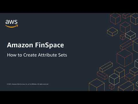 How to: Create Attribute Sets in Amazon FinSpace