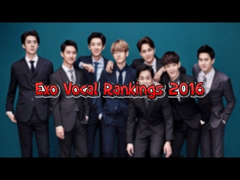 Exo Vocal Rankings 2016