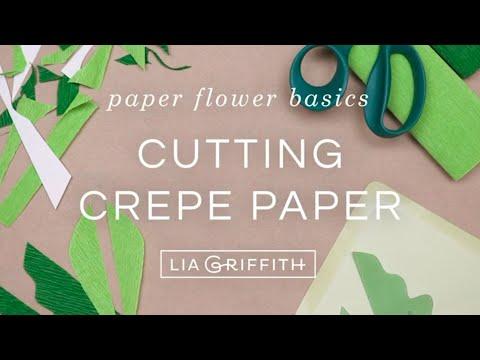 Crepe Paper Flower Basics - Cutting Crepe Paper