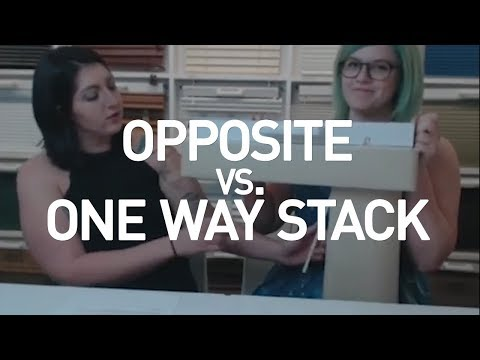 Opposite vs. One Way Stack On Vertical Blinds