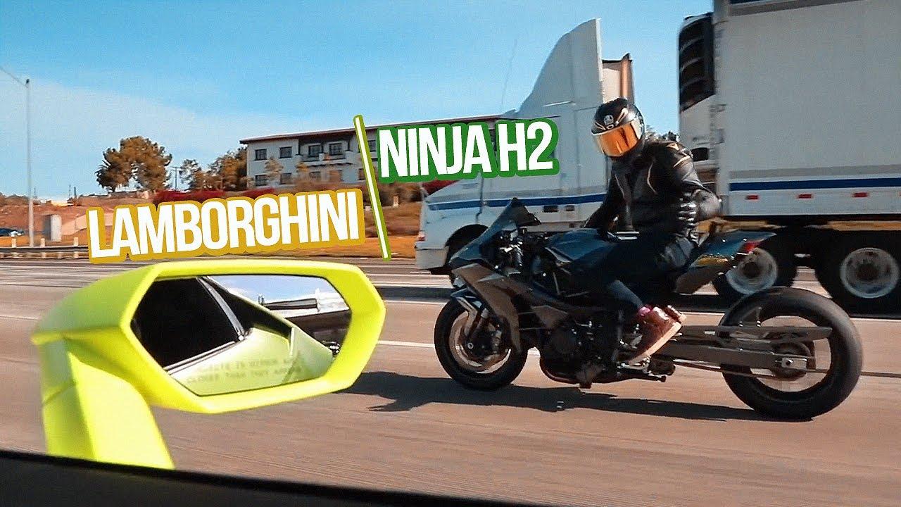 Khi Ninja H2 Chạm Mặt Lamborghini