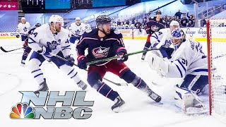 NHL Stanley Cup Qualifying Round: Leafs vs. Blue Jackets | Game 3 EXTENDED HIGHLIGHTS | NBC Sports