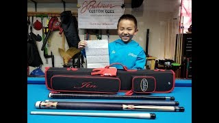 2018 Jin loves his new JPechauer break cue and Kamui XS glove (8 years old)