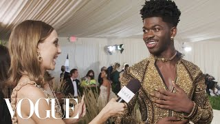 Lil Nas X on His Three Royal Outfits | Met Gala 2021 With Emma Chamberlain | Vogue