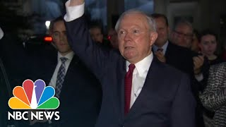 Attorney General Jeff Sessions Applauded While Leaving DOJ After Resigning | NBC News